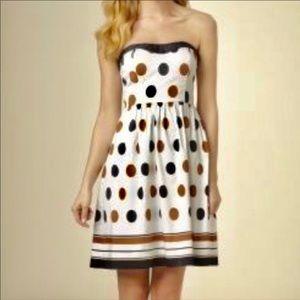 THE LIMITED Polka Dot Strapless Dress M12